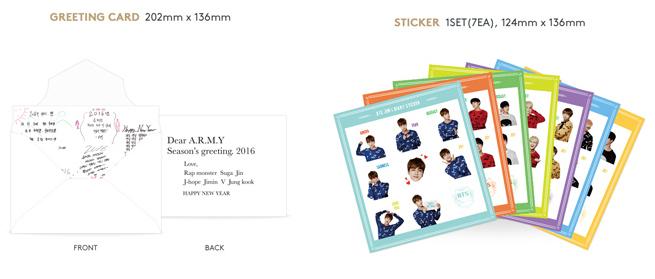 BTS- 2016 Season's Greetings (sticker)